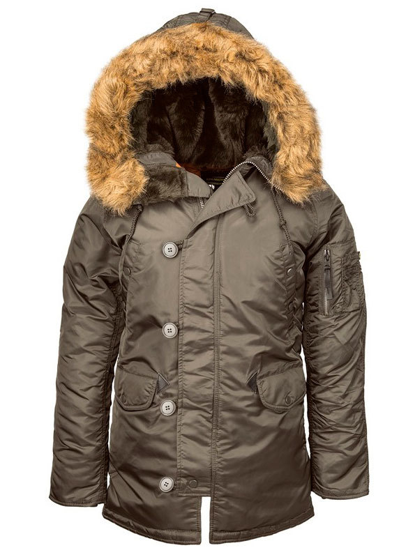 Куртка Аляска Женская - Alpha N-3B W Parka (т.серый/оранж - r.grey/orange)