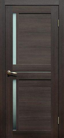Дверь Fly Doors L-22, стекло матовое, цвет венге 3D, остекленная