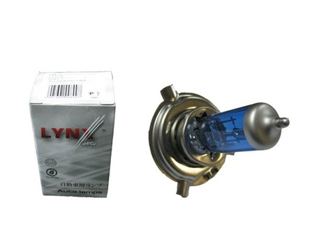 Лампа H4 12V 60/55W Super white LYNXauto L10460B