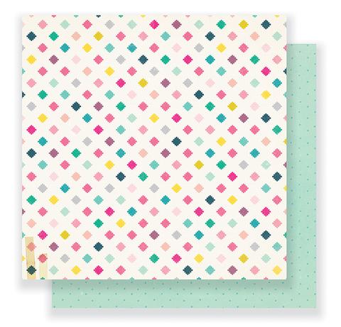 Лист двухсторонней бумаги 30*30см  Cute Girl by Crate Paper