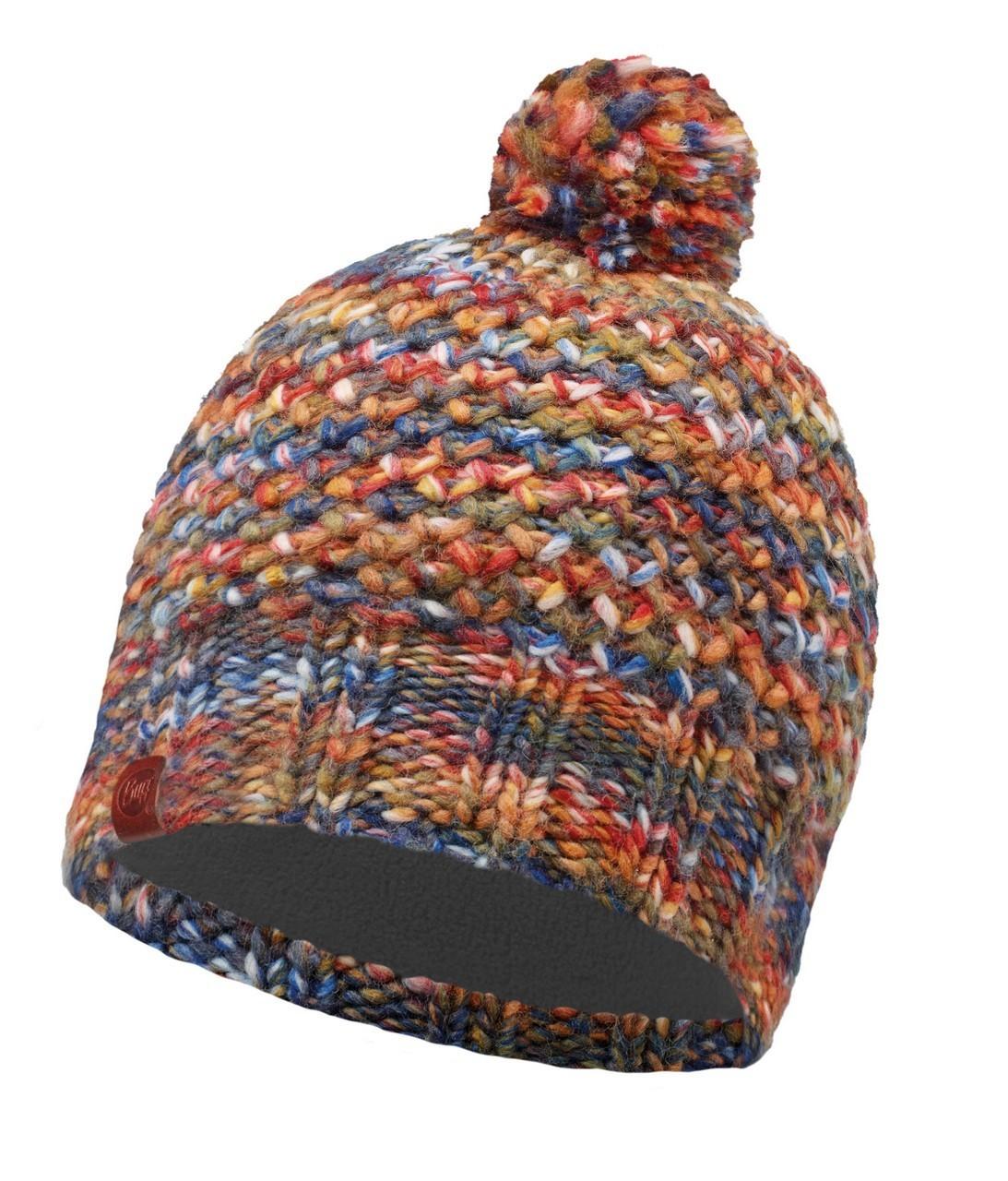 Вязаная шапка с флисовой подкладкой Buff Margo Orange