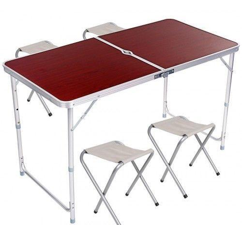Стол складной и 4 стула  для пикника