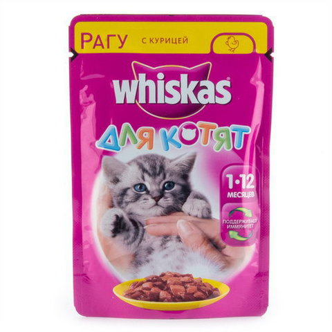 Корм для котят Whiskas «Рагу с курицей» 85г