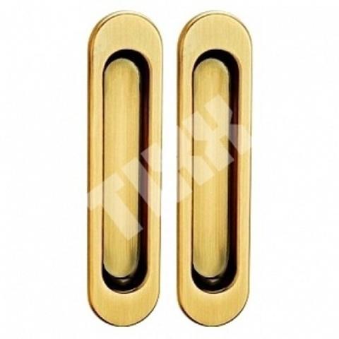 Фурнитура - Ручка Дверная для раздвижных дверей TIXX SDH 501, цвет латунь матовая  (гарантия - 12 месяцев)