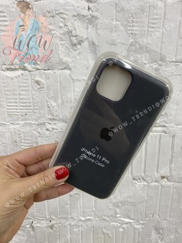 Чехол iPhone 11 Pro Max Silicone Case /charcoal grey/ уголь 1:1