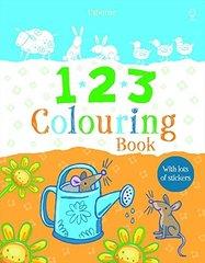 123 Colouring Sticker Book