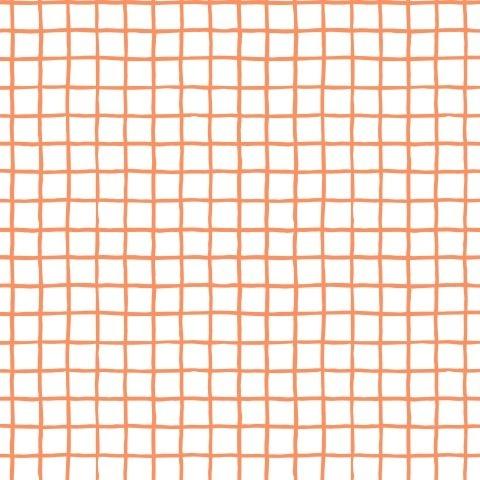 Клетка оранжевая на белом