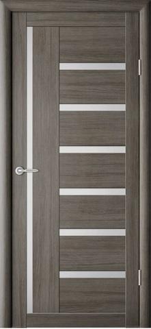 Дверь Фрегат ALBERO Мадрид, стекло матовое, цвет серый кедр, остекленная