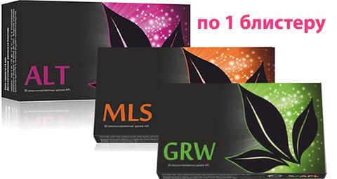 APL. Набор аккумулированных драже  APLGO. MLS+ALT+GRW от паразитов, аллергии, для восстановления тонуса по 1 блистеру