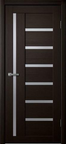 Дверь Fly Doors L-17, стекло матовое, цвет венге 3D, остекленная