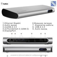 Расширитель портов Belkin Thunderbolt 3 Express Dock HD