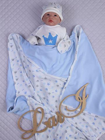 Покрывало плед Prince  (голубой)