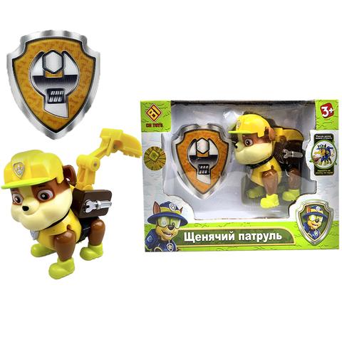 Щенячий патруль в индивидуальной упаковке (1 игрушка в комплекте) Крепыш (Желтый) 1кор*1бл*1шт