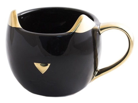 98928 Кружка Котик Золотые ушки, черная