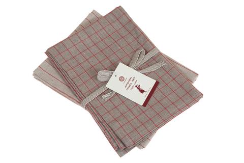 Набор полотенец 2 шт Luxberry Timeless maxi натуральный/красный
