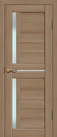 Дверь Fly Doors L-22, стекло матовое, цвет тиковое дерево 3D, остекленная