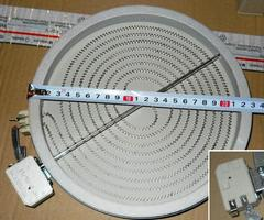 Стеклокерамическая конфорка 2300W, D230 для плит с сенсорным управлением 264629 , 327341