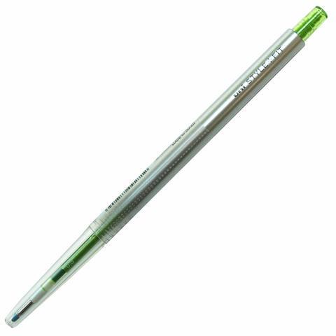 Гелевая ручка 0,5 мм Uni Style Fit - Lime Green - жёлто-зеленые чернила