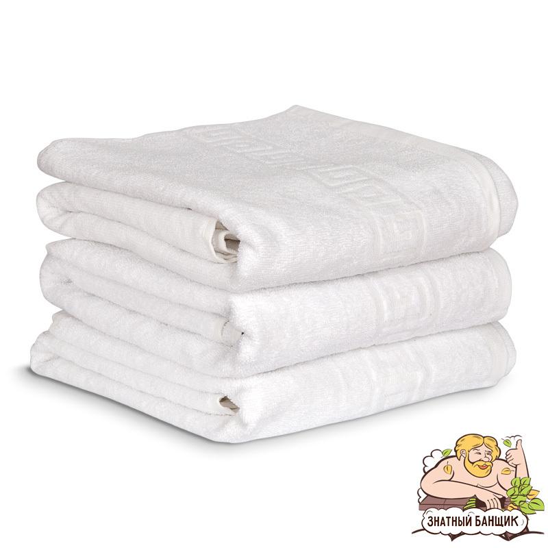 Полотенце банное махровое 70*140, цвет белый
