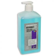 Дезсредство Бриллиантовая сестричка - 2, жидкое мыло 1 л с дозатором