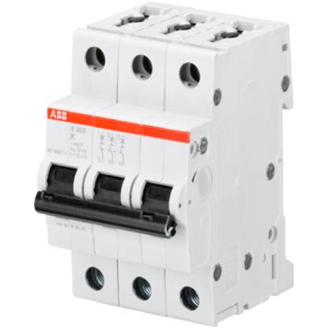 Автоматический выключатель 3-полюсный 20 А, тип K, 10 кА S203M K20. ABB. 2CDS273001R0487
