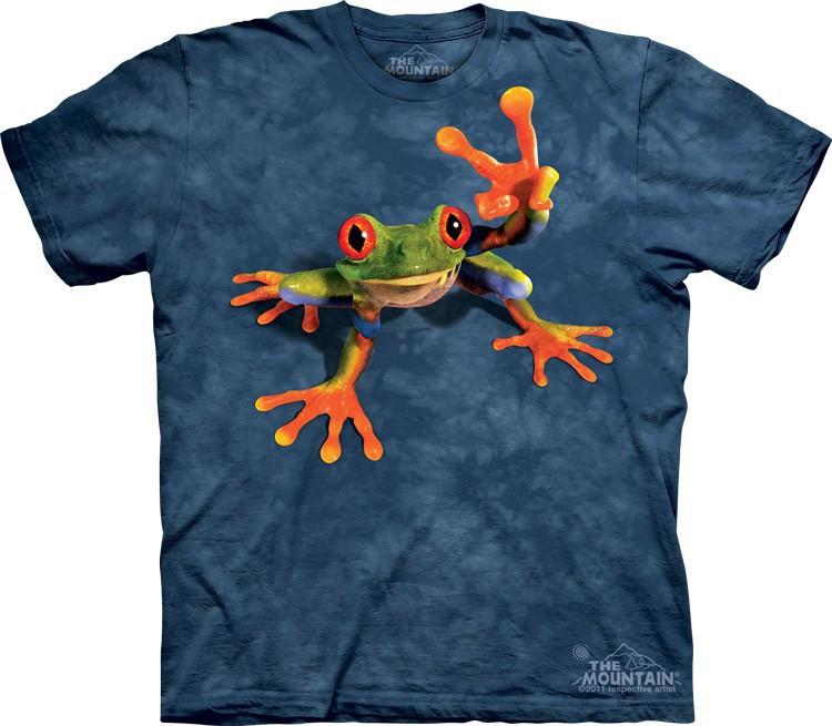 Футболка детская Mountain с изображением лягушки - Victory Frog