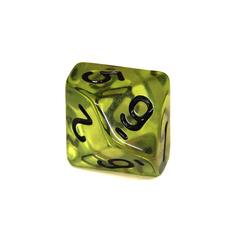 Куб D10 прозрачный: Зеленая Скверна