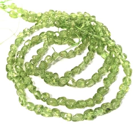 Бусины перидот/хризолит произвольная форма 4,5 мм