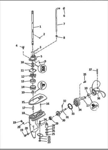 Редуктор в сборе  для лодочного мотора T2,5 SEA-PRO (8-0)