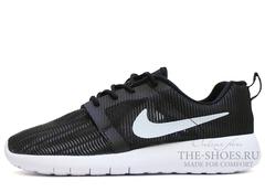 Кроссовки Мужские Nike Roshe Run SMR Black White