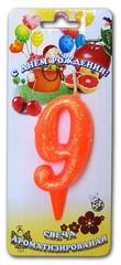 Свеча тортовые ароматизированные цифры-мармеладки 9