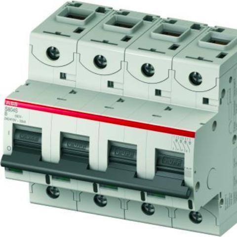 Автоматический выключатель 4-полюсный 16 А, тип  B, 25 кА S804S B16. ABB. 2CCS864001R0165