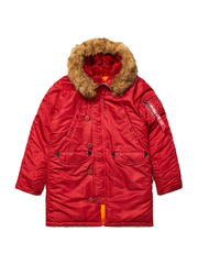 парка Alpha Industries N-3B W Parka Commander Red (красная)