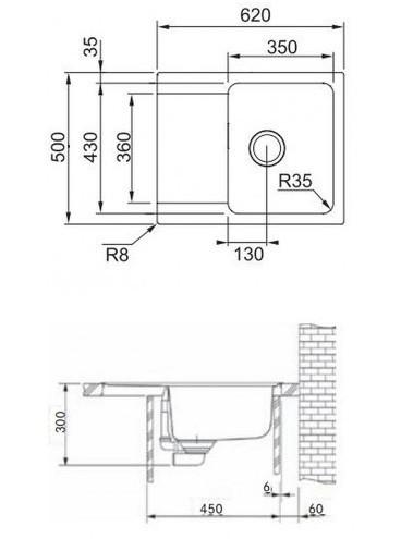 Кухонная мойка Franke OID 611-62, кофе