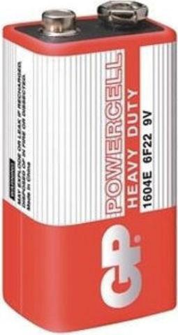 Батарейки GP 1604E-S1 Powercell 6F22, крона, 9V, трей 10/500