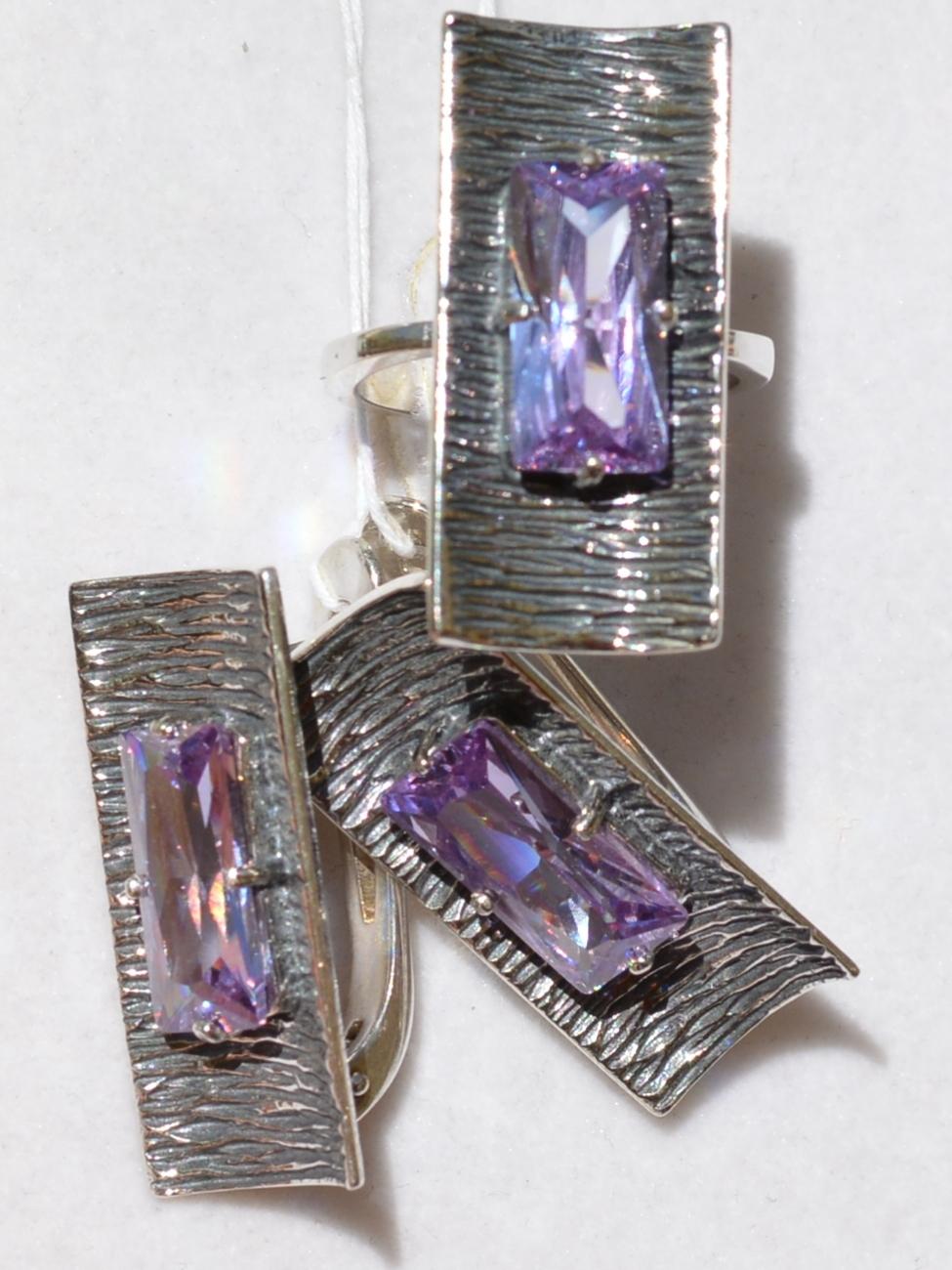 Тильда  (кольцо + серьги из серебра)