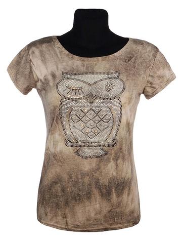 305-33 футболка женская, коричневая