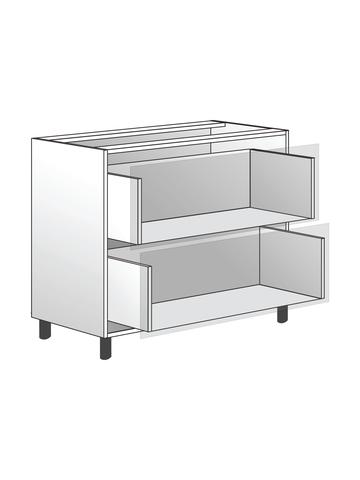Напольный шкаф c 2 ящиками, 720х900 мм