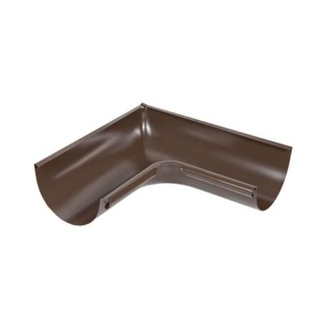 Угол желоба внутренний ф125-90гр (RAL 8017-коричневый шоколад)