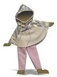 Комплект с пончо - Демонстрационный образец. Одежда для кукол, пупсов и мягких игрушек.