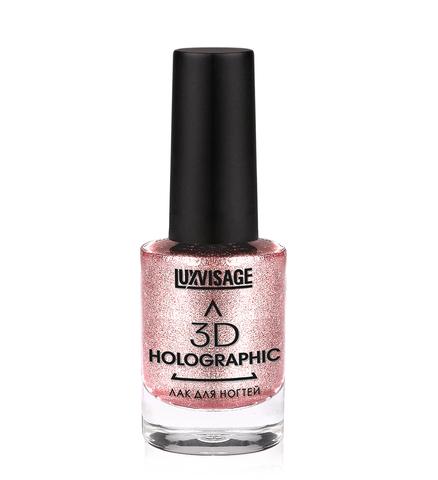 LuxVisage Лак для ногтей 3D HOLOGRAPHIC тон 705 (розовое золото)11г