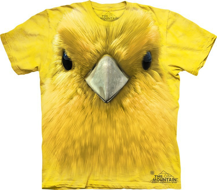 __Футболка Mountain с изображением желтой канарейки - Yellow Warbler Face