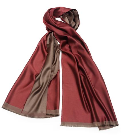 Плед-шарф 50х180 AM Paris Paraty бордовый-коричневый