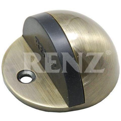 Фурнитура - Ограничитель Дверной напольный Renz DS 44 , цвет бронза античная