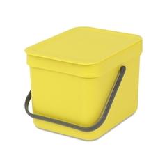 Ведро для мусора Brabantia Sort&Go желтое 6л