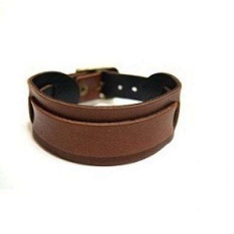 Стильный оригинальный российский коричневый браслет