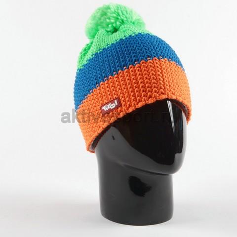 Шапка вязаная с помпоном Eisbar Star Neon Pompon Tirol 955