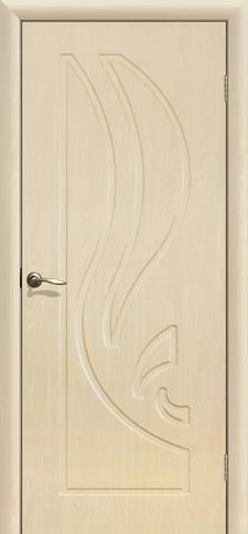 Дверь Сибирь Профиль Лилия, цвет беленый дуб, глухая