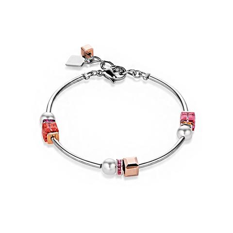 Браслет Coeur de Lion 4804/30-0400 цвет белый, розовый, красный