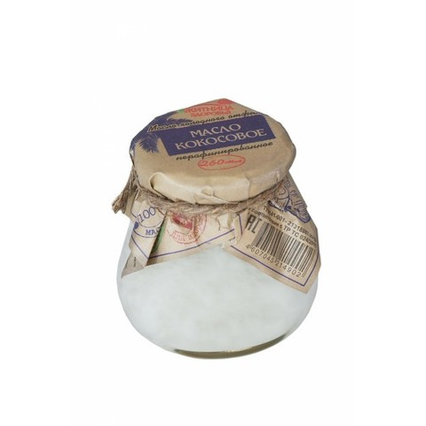 Масло кокосовое, 260 гр. (Житница здоровья)